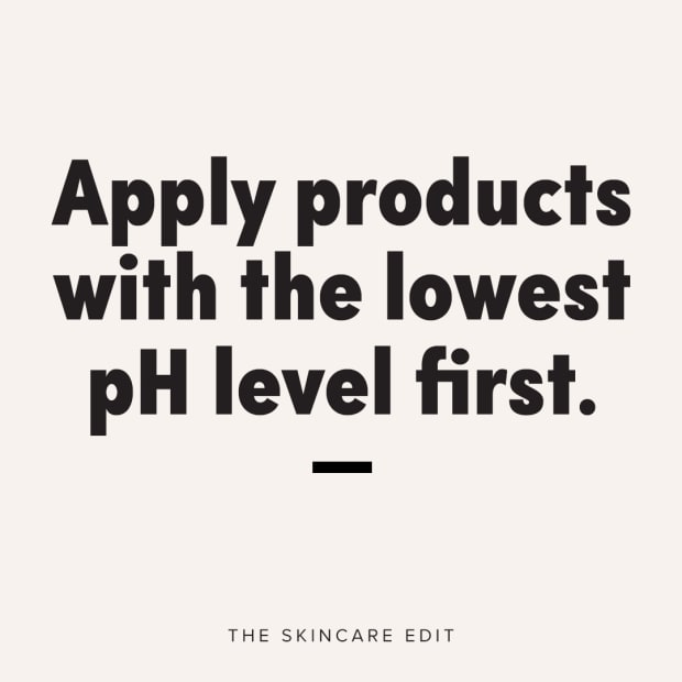 Apply products with the lowest pH level first
