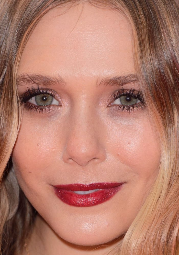Celebrity Makeup Looks Natural Brows Red Lipstick And