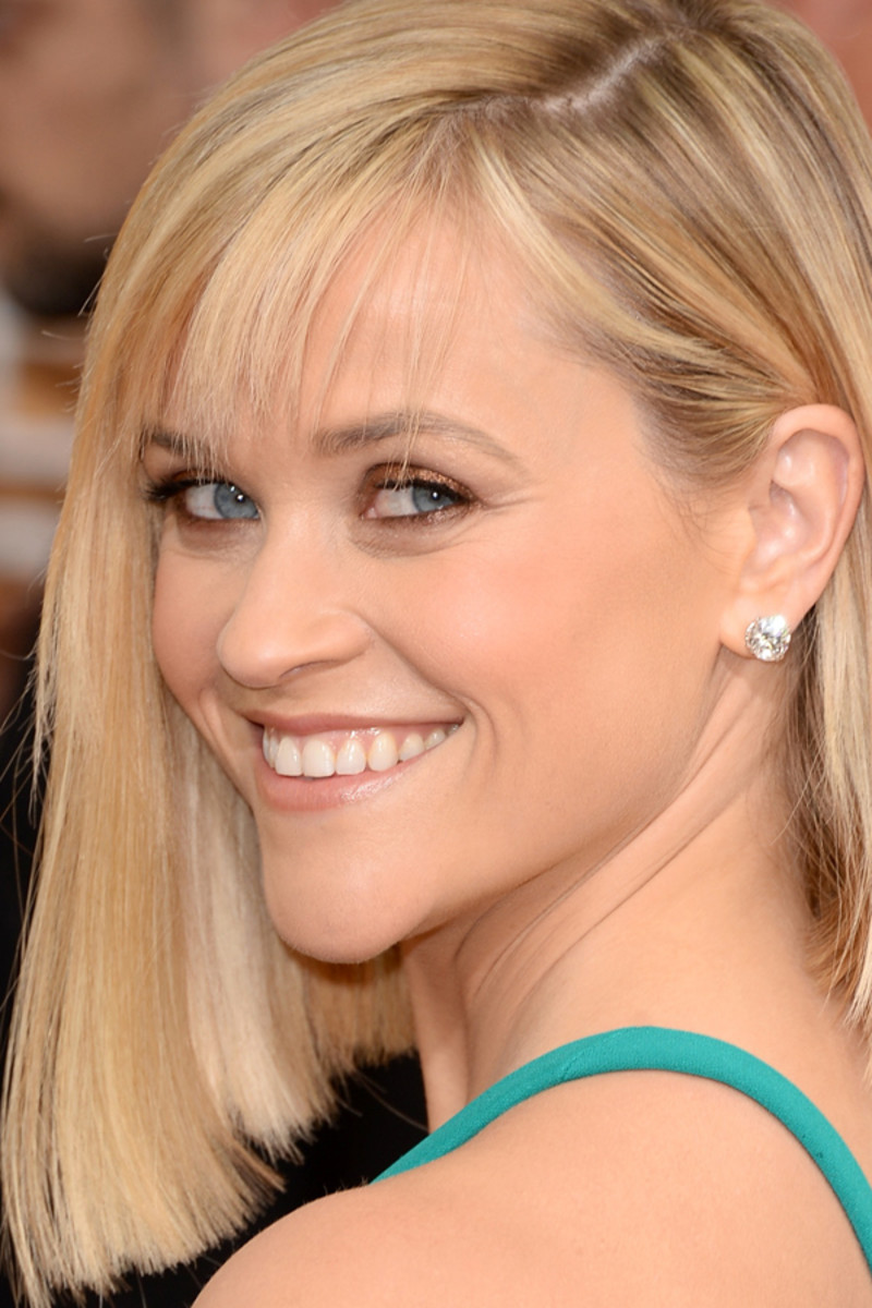 Golden Globes 2014: Reese Witherspoon's Nude Lips and Copper Eyes