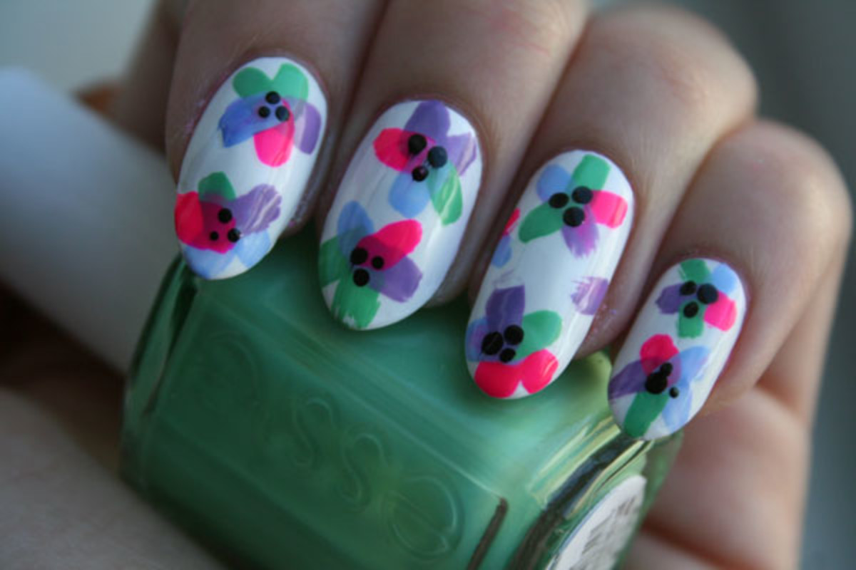 Try This Floral Nail Art Tutorial For Spring The Skincare Edit