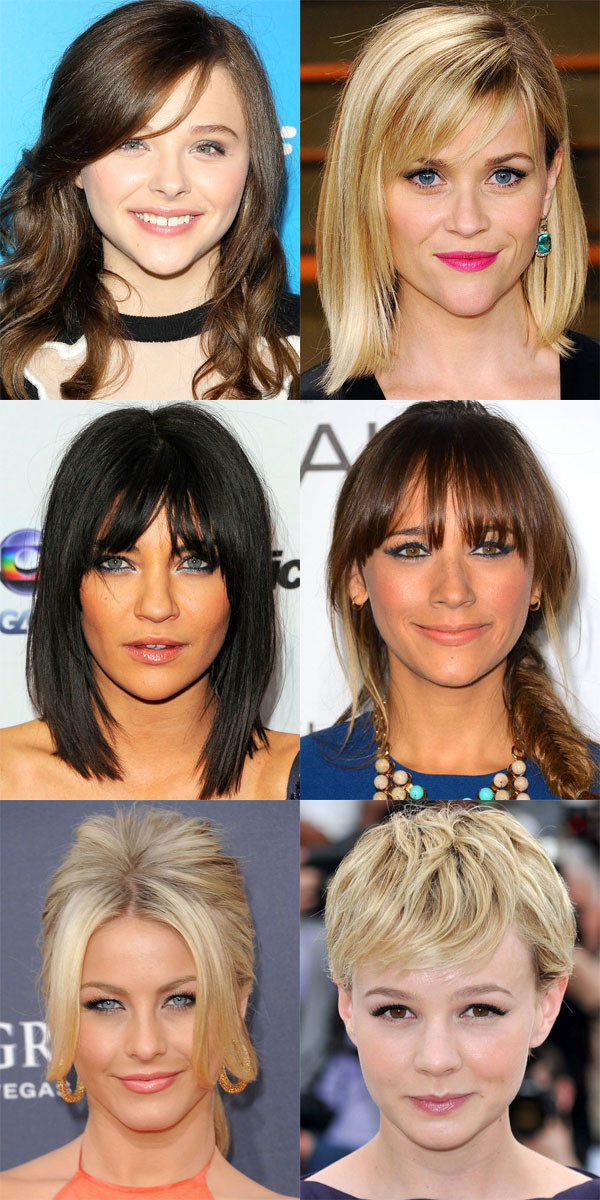 Last week we talked about bangs for the heart-shaped face; this week we're exploring its very close cousin: the inverted triangle face shape.