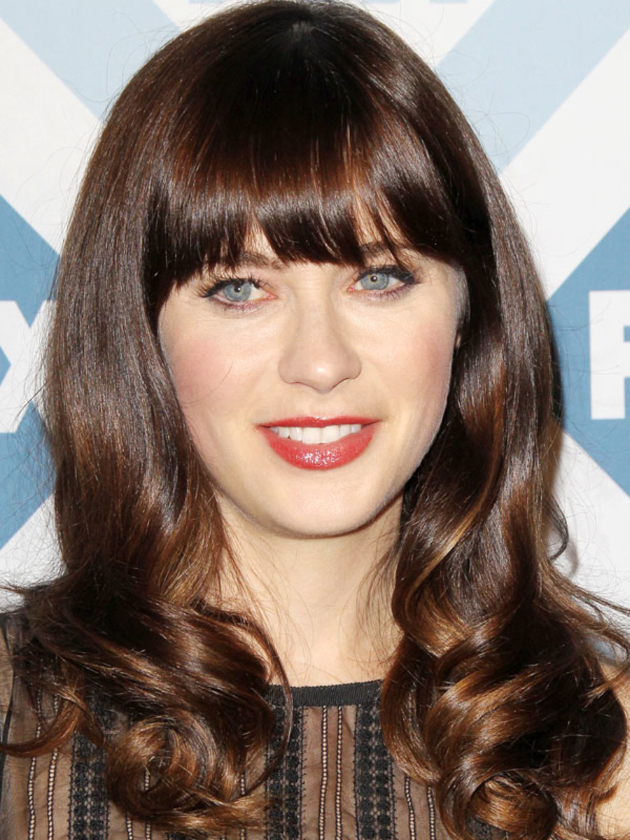 zooey deschanel natural hair color high school zooey deschanel at the 2014 fox allstar party deschanel before and after the skincare edit
