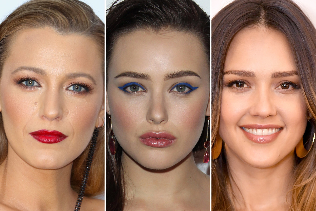 Celebrity Makeup Looks Blue Cat Eyes Ombr Lips And More The