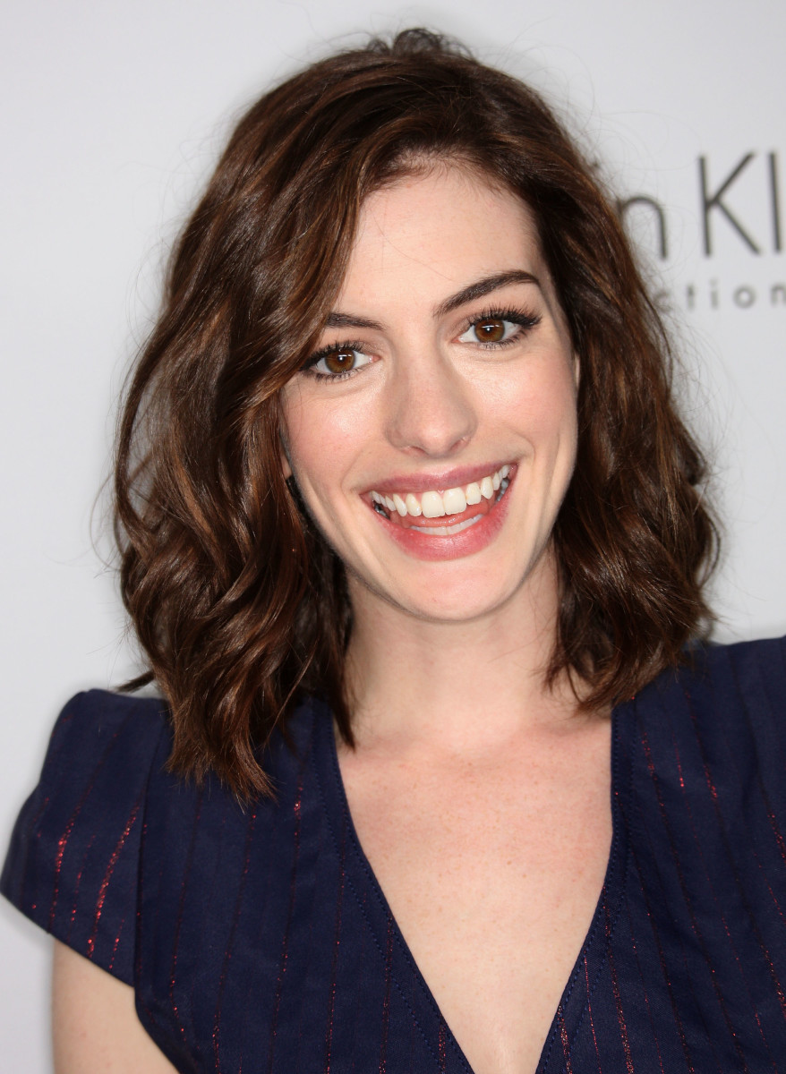 Anne Hathaway at the 2008 Women in Hollywood Tribute.