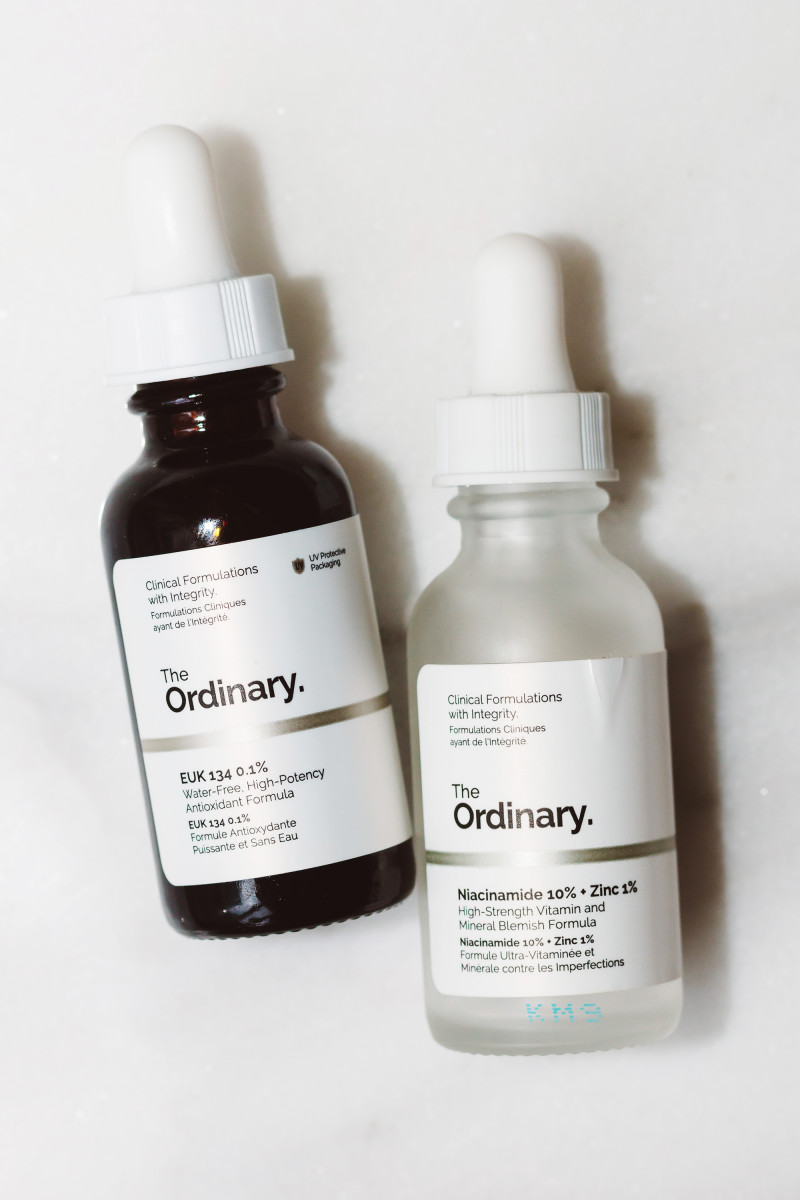 The Ordinary EUK 134 0.1 Percent and The Ordinary Niacinamide 10 Percent Zinc 1 Percent
