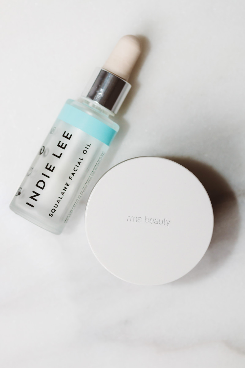 Indie Lee Squalane Facial Oil and RMS Beauty Raw Coconut Cream
