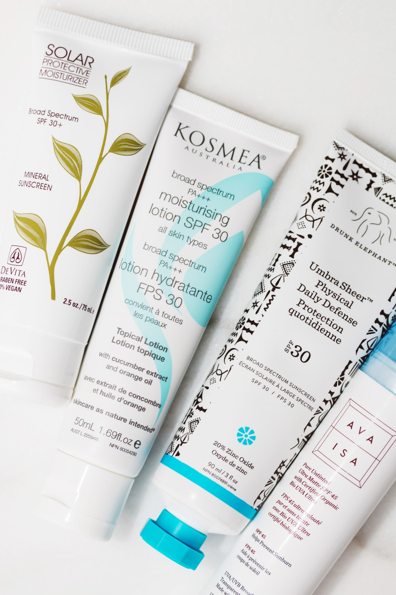 DeVita, Kosmea, Drunk Elephant and Ava Isa sunscreens