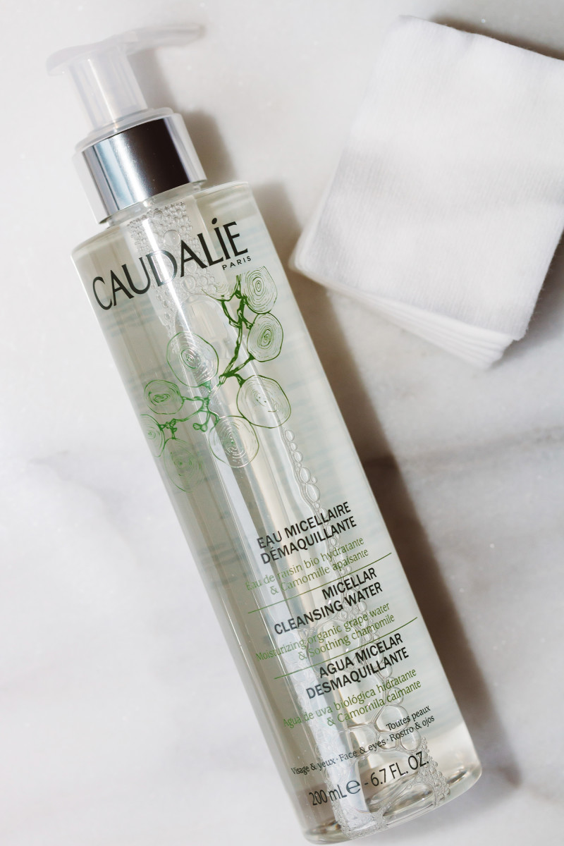 Caudalie Micellar Cleansing Water and Shiseido Facial Cotton