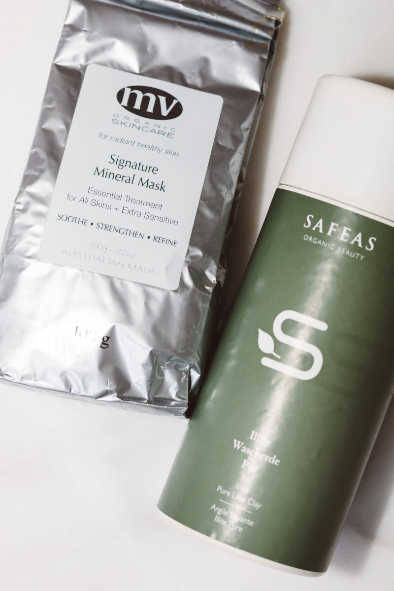 MV Organic Skincare Signature Mineral Mask and Safeas Illite Pure Lava Clay