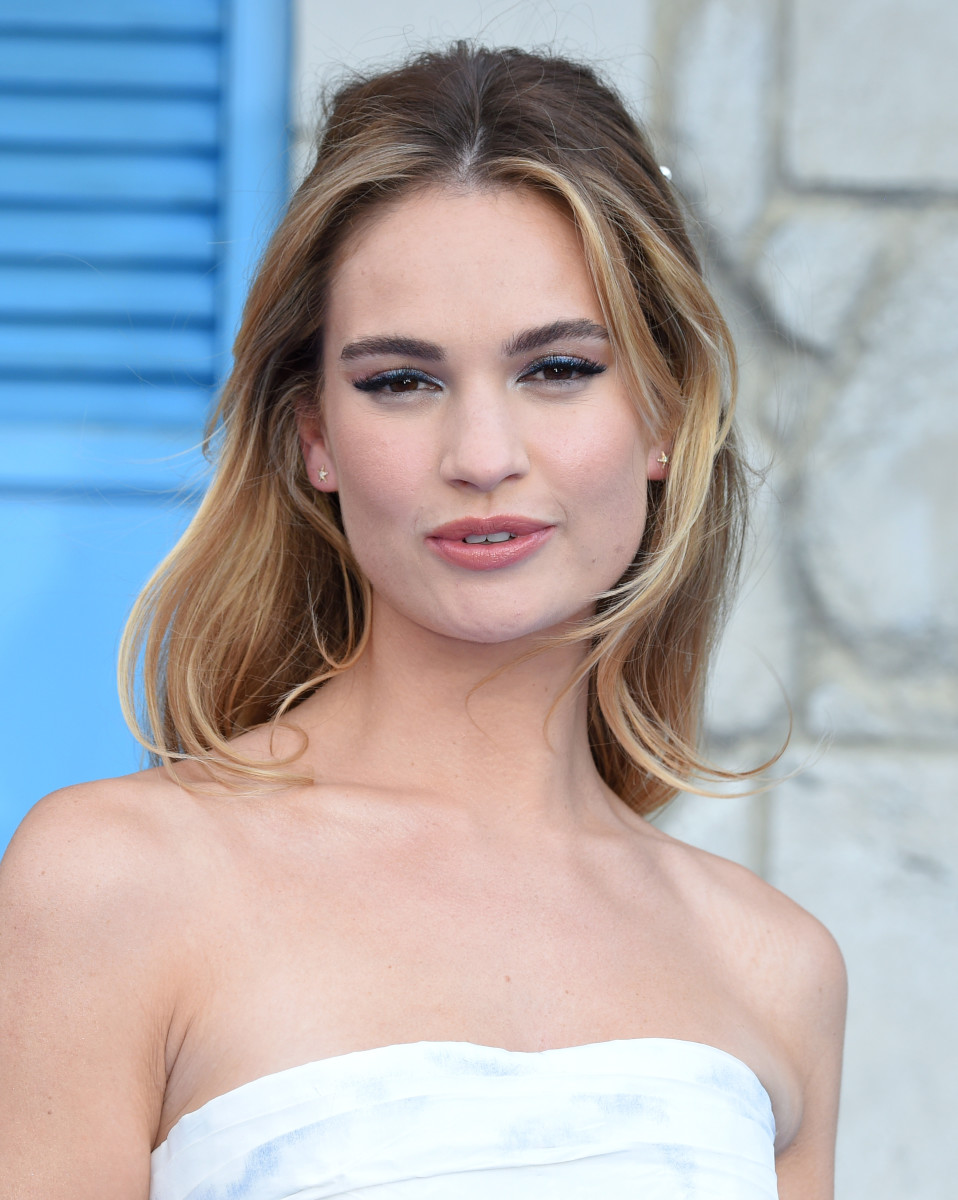 Lily James, Mamma Mia Here We Go Again world premiere, 2018