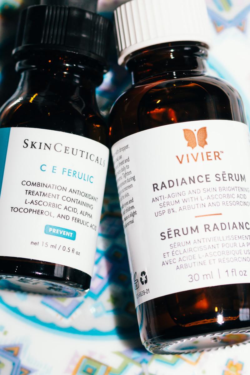 Vitamin C serum darkens skin