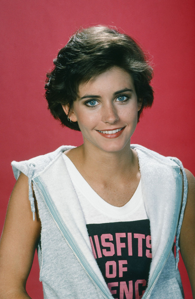 Courteney Cox, Misfits of Science promo still, 1985