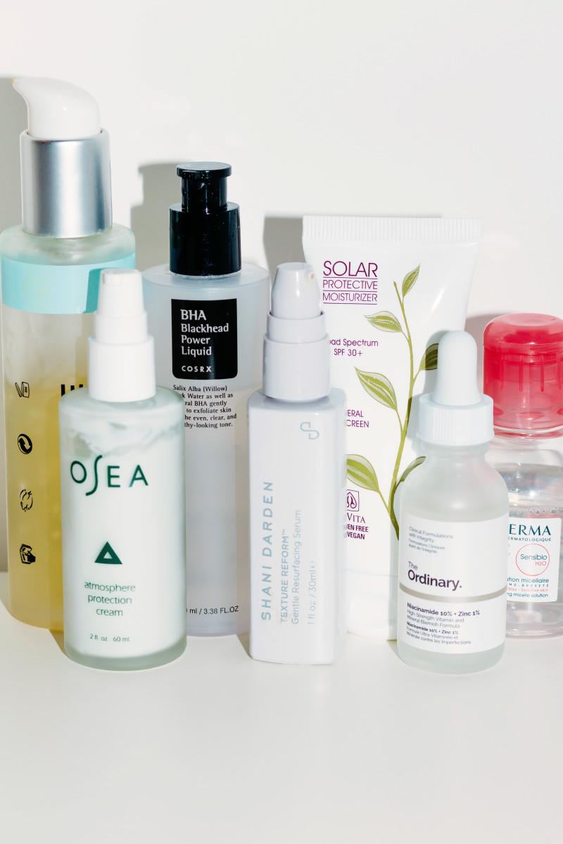 Minimalist skincare routine