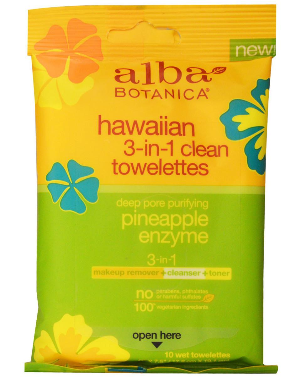 Alba Botanica Hawaiian 3-in-1 Clean Towelettes