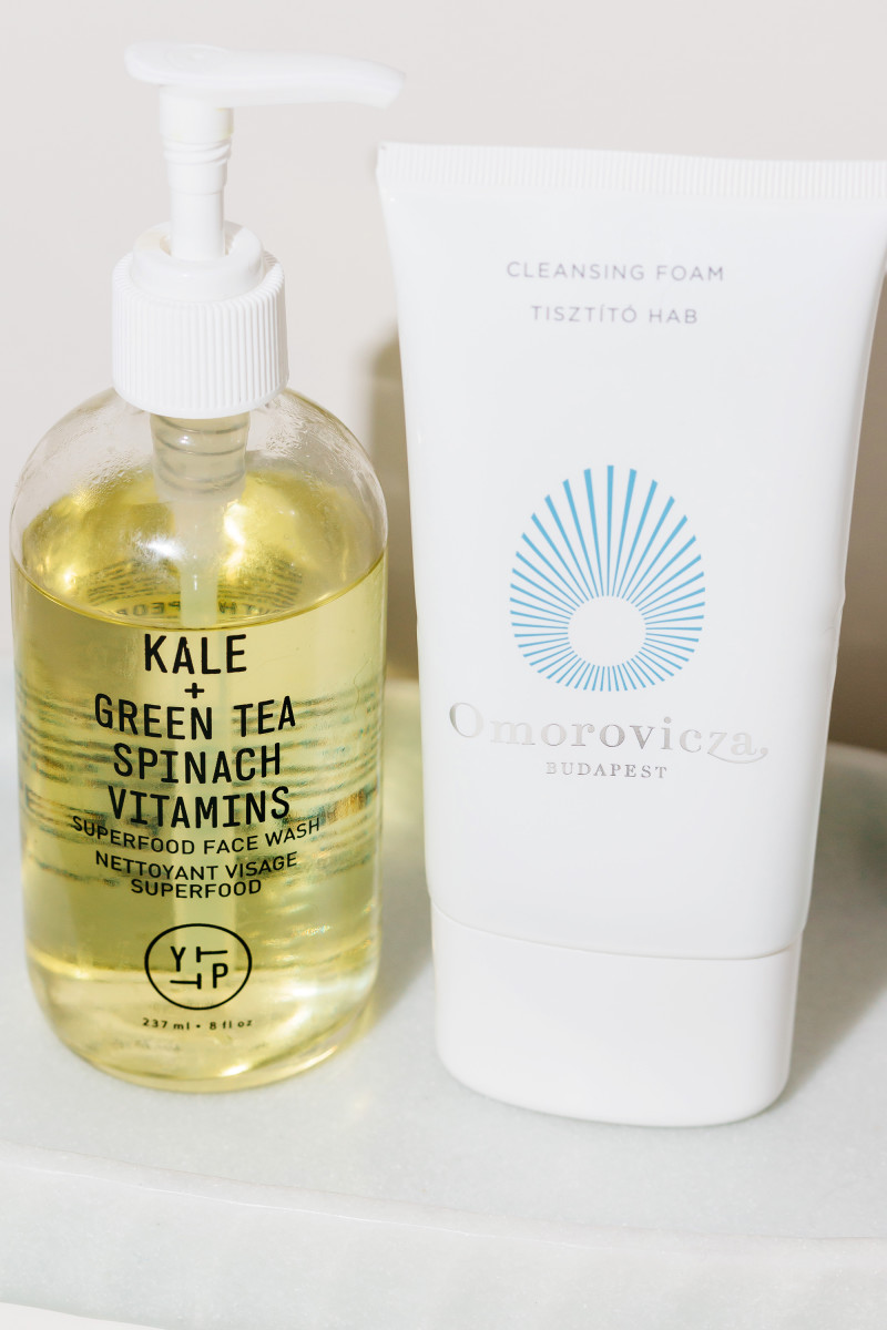 Youth to the People Superfood Face Wash and Omorovicza Cleansing Foam