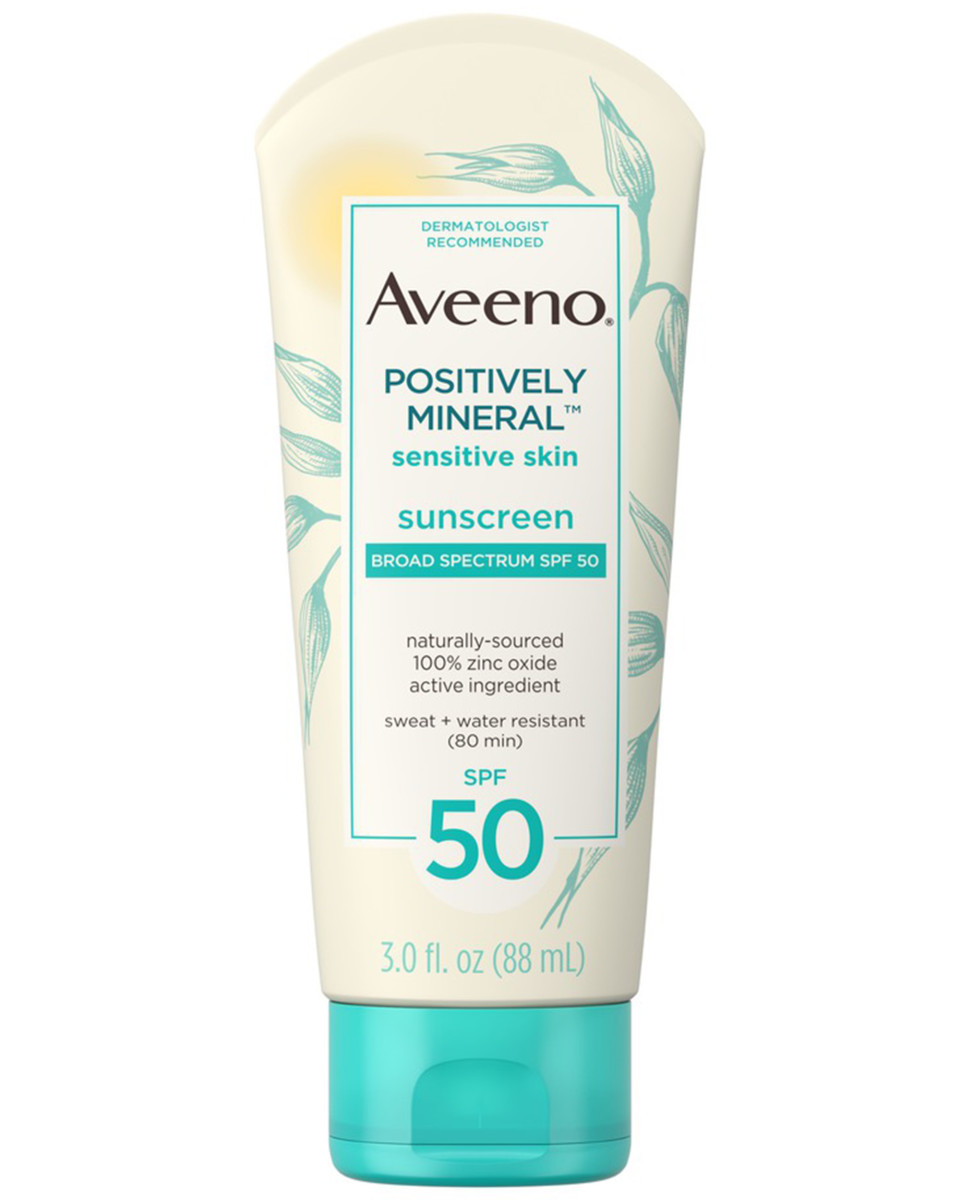 Aveeno Positively Mineral Sensitive Skin Sunscreen SPF 50