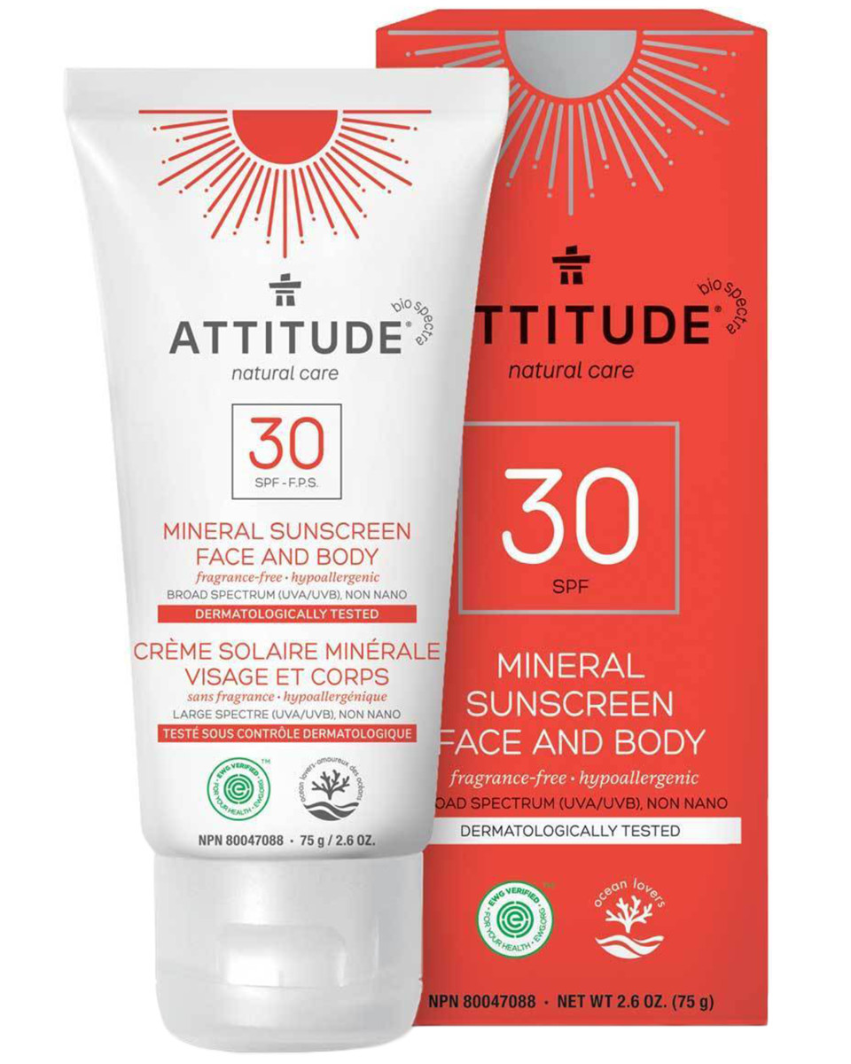 Attitude Mineral Sunscreen Face and Body SPF 30
