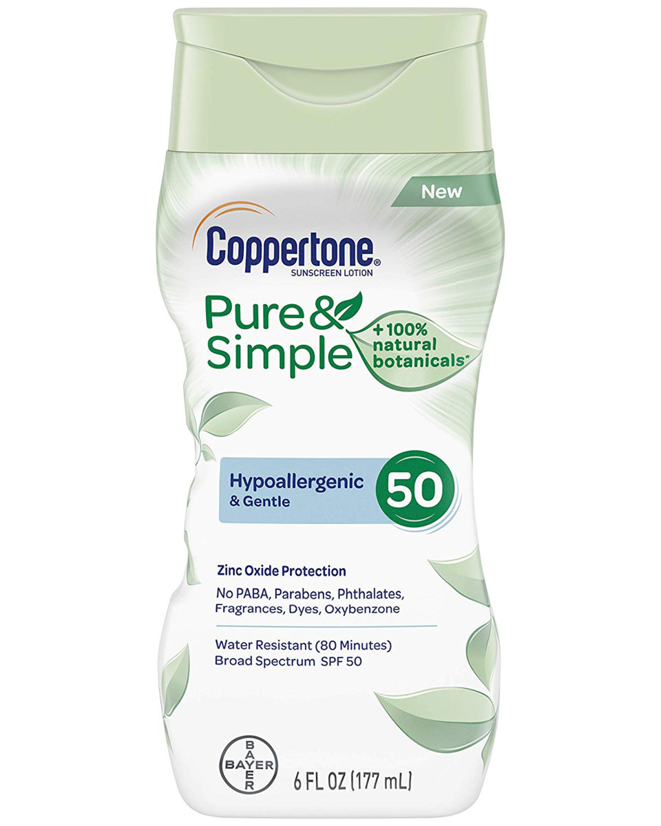 Coppertone Pure and Simple Mineral Sunscreen Lotion SPF 50