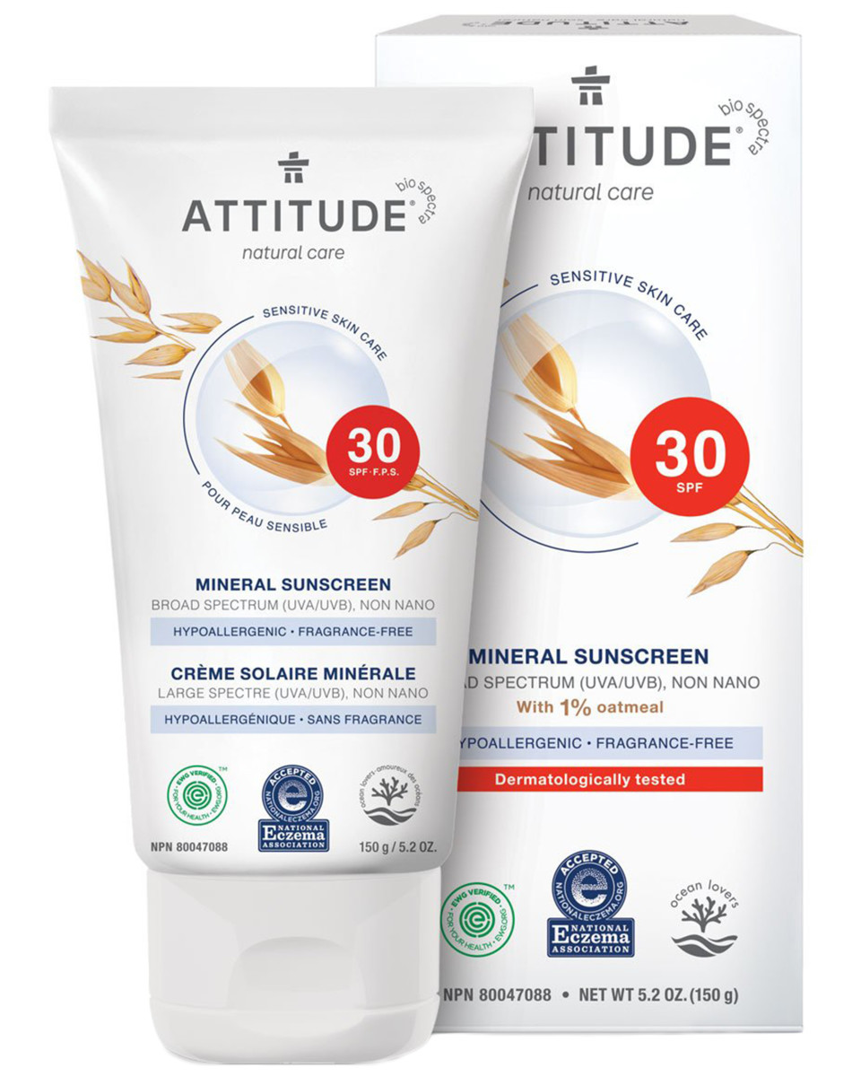 Attitude Sensitive Skin Care Mineral Sunscreen SPF 30