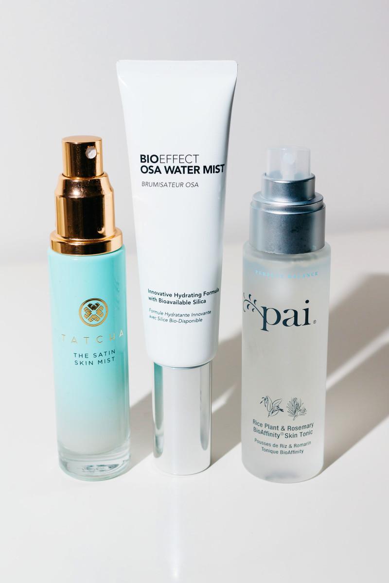 Tatcha Satin Skin Mist BIOeffect OSA Water Mist Pai BioAffinity Skin Tonic