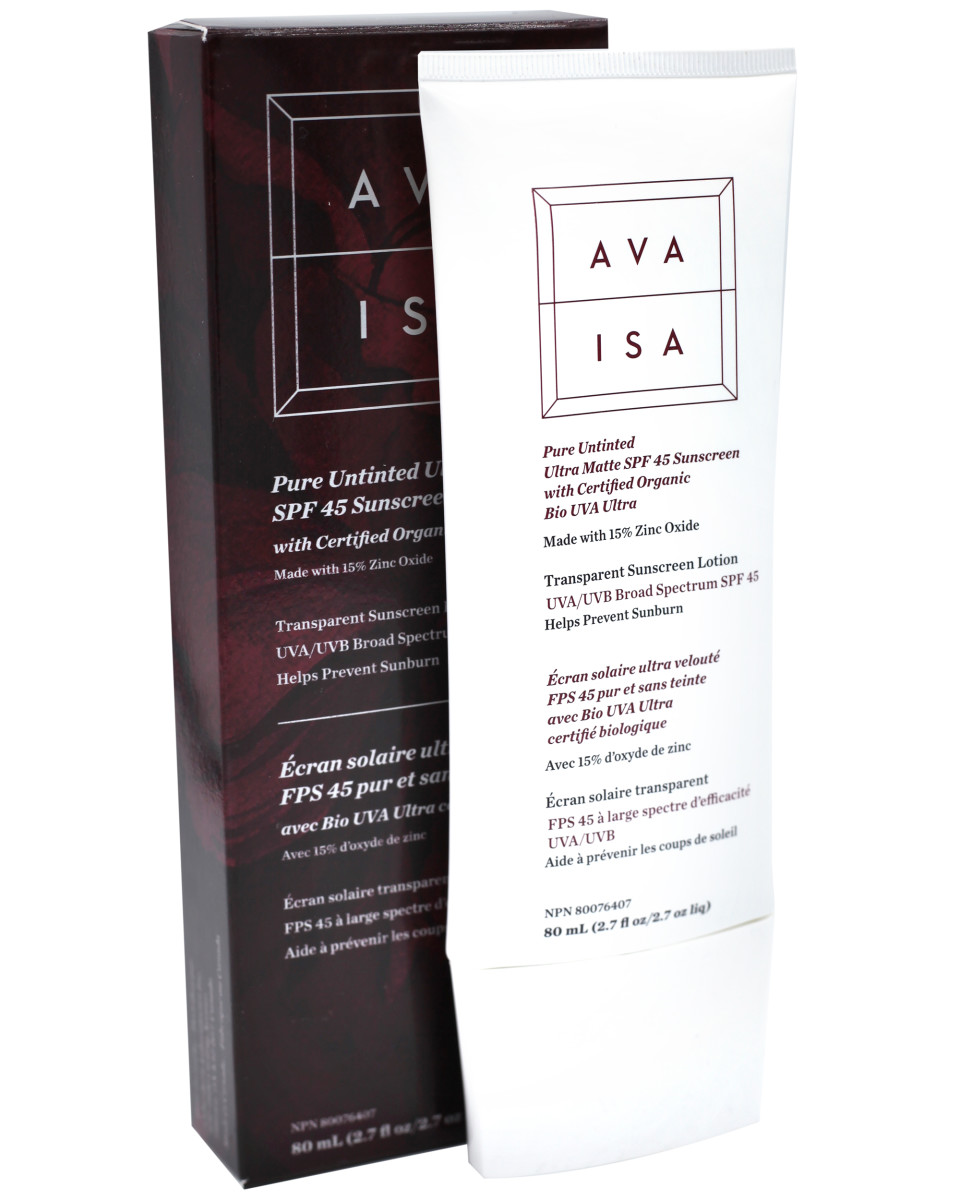 Ava Isa Pure Untinted Ultra Matte SPF 45 Sunscreen