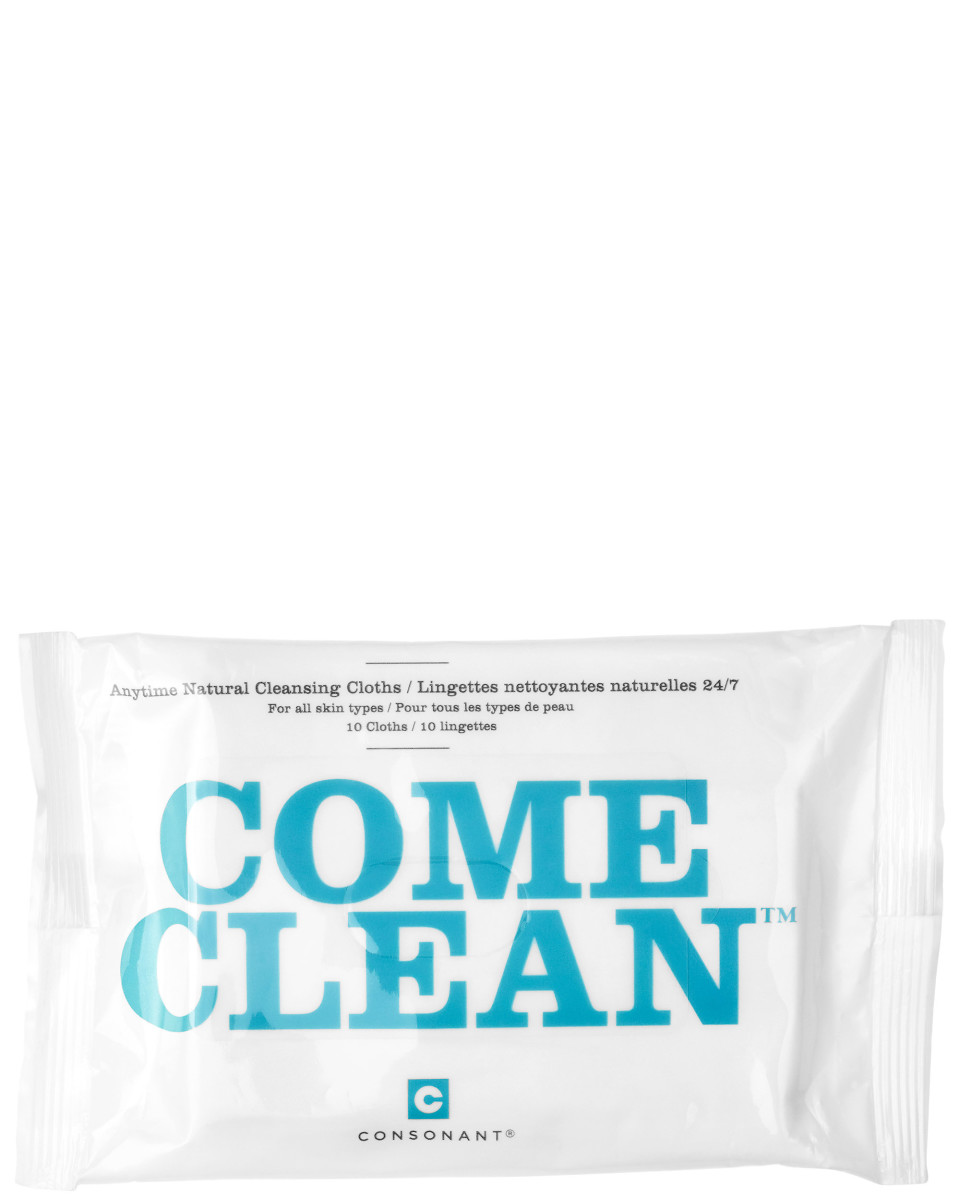 Consonant Come Clean Anytime Natural Cleansing Cloths