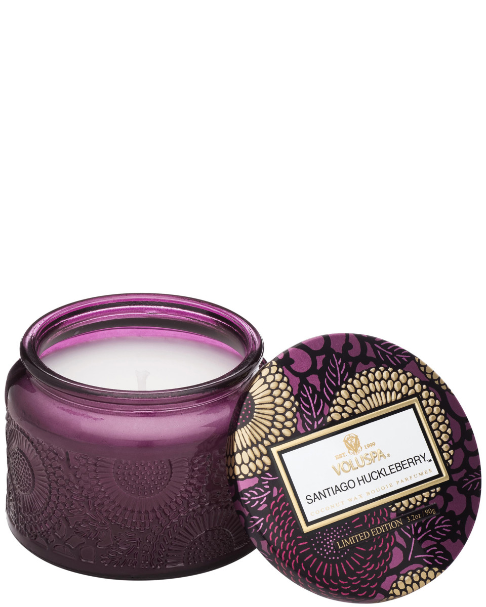 Voluspa Petite Embossed Glass Jar Candle