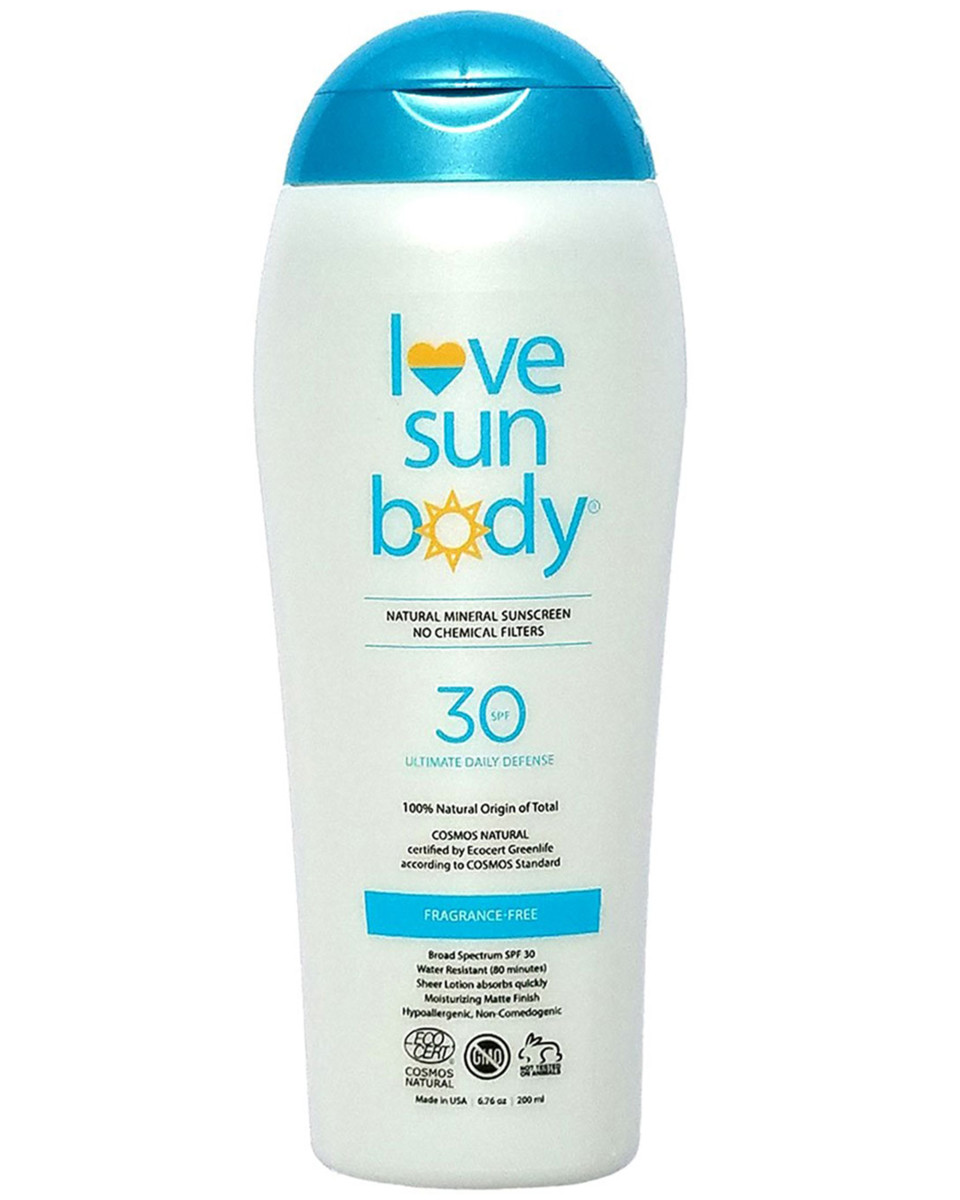 Love Sun Body Natural Mineral Sunscreen SPF 30 Fragrance-Free