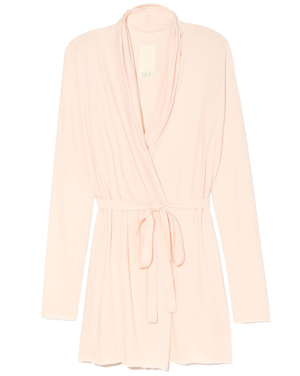 Skin Double Layer Wrap Robe