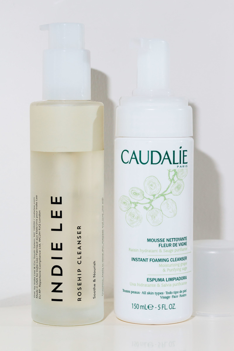 Indie Lee Rosehip Cleanser and Caudalie Instant Foaming Cleanser