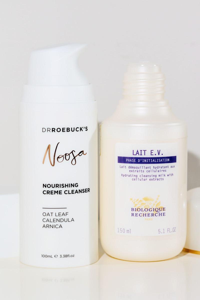 Dr Roebuck's Noosa Nourishing Creme Cleanser and Biologique Recherche Lait E.V.
