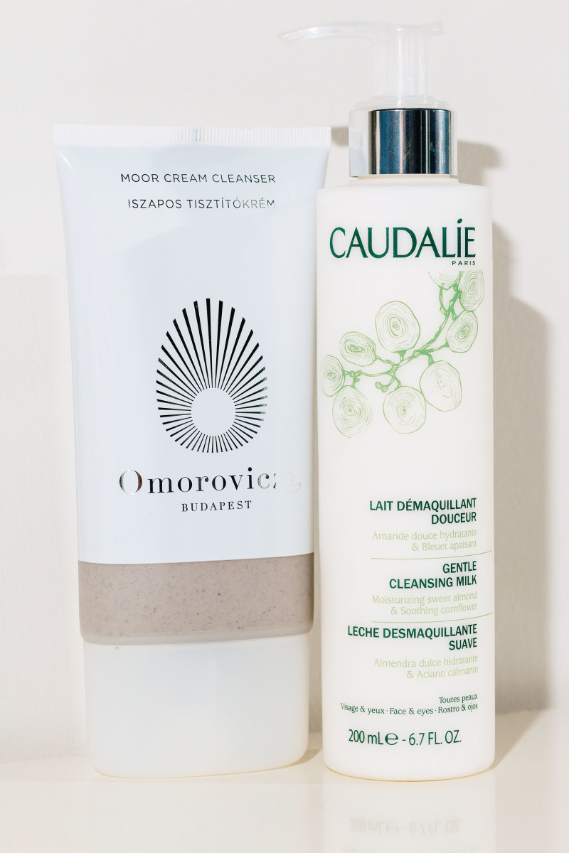 Omorovicza Moor Cream Cleanser and Caudalie Gentle Cleansing Milk