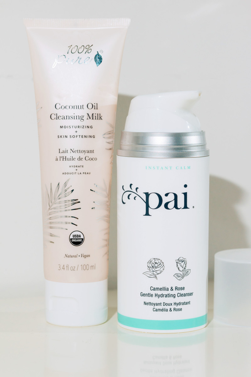 100 Percent Pure Coconut Oil Cleansing Milk and Pai Camellia and Rose Gentle Hydrating Cleanser
