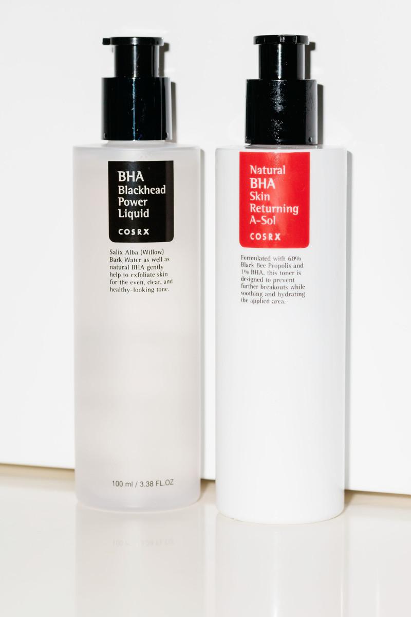 COSRX BHA Blackhead Power Liquid and COSRX Natural BHA Skin Returning A-Sol