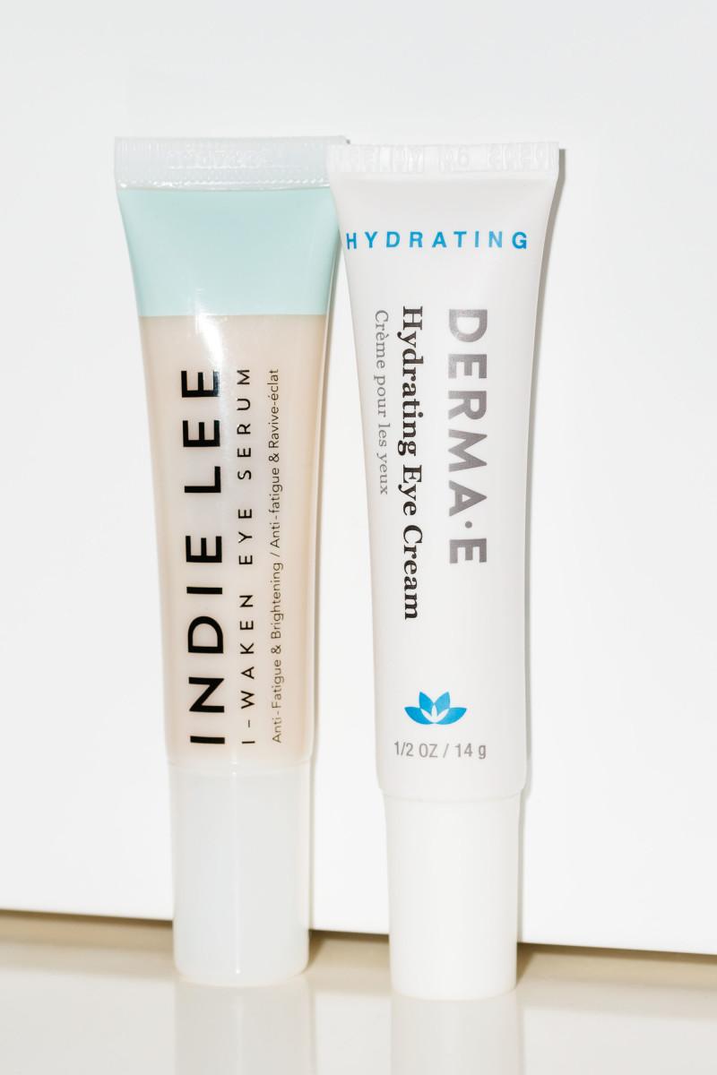 Indie Lee I-Waken Eye Serum and Derma E Hydrating Eye Cream