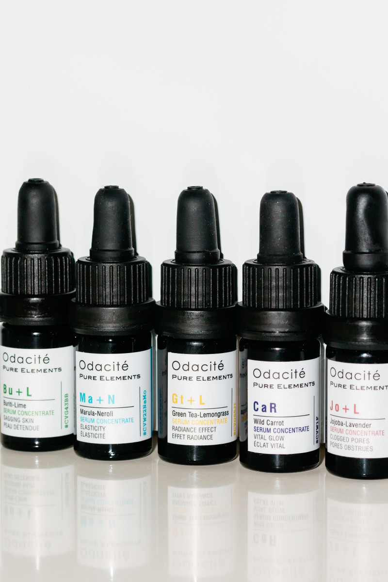 Odacite Buriti-Lime, Marula-Neroli, Green Tea-Lemongrass, Wild Carrot and Jojoba-Lavender Serum Concentrates