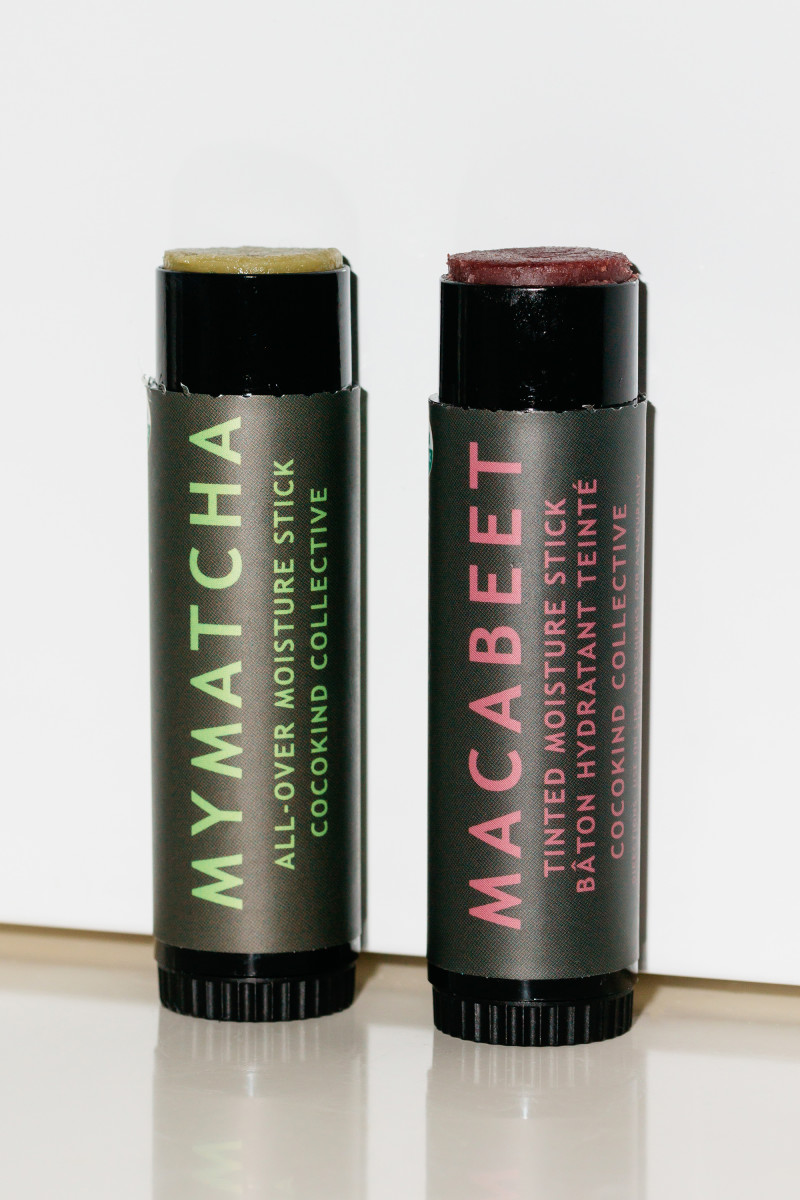 Cocokind MyMatcha All-Over Moisture Stick and Cocokind Macabeet Tinted Moisture Stick