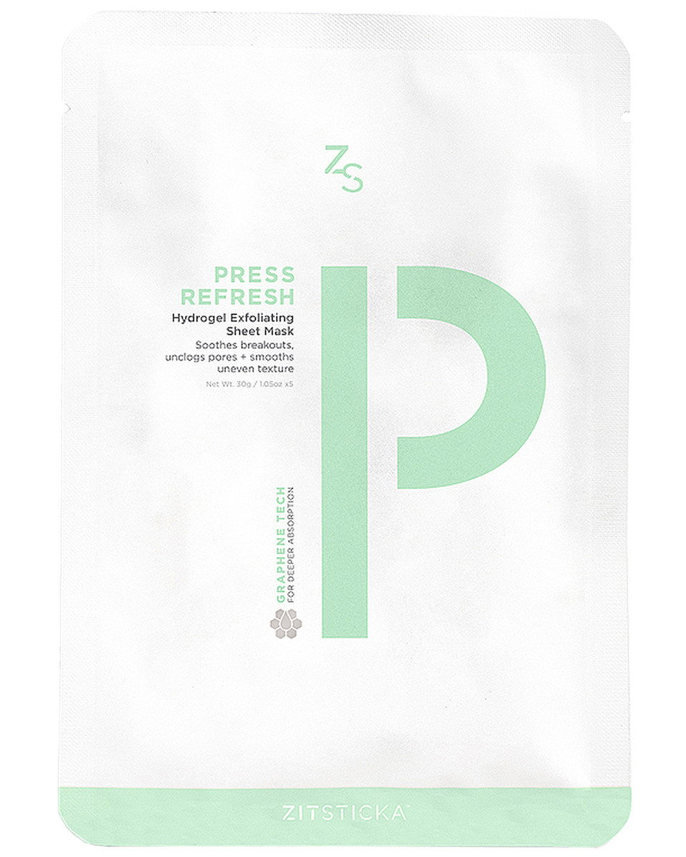 ZitSticka Press Refresh Hydrogel Exfoliating Sheet Mask