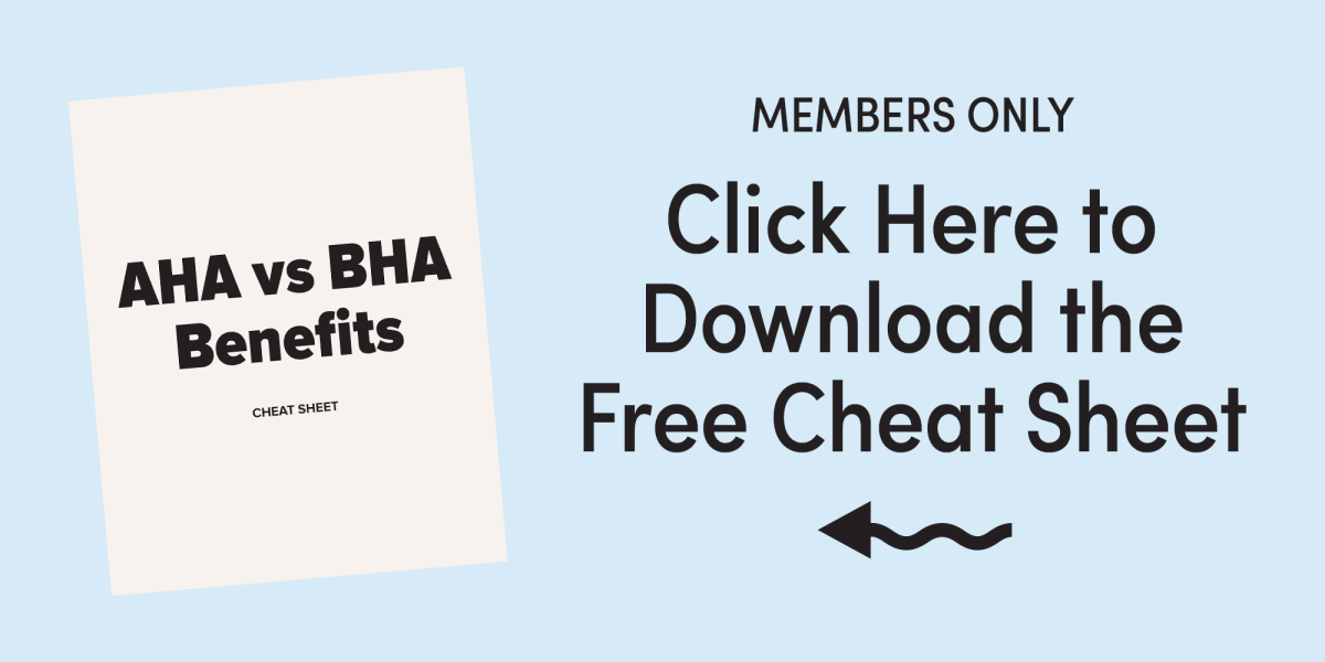 AHA vs BHA Benefits Member Download