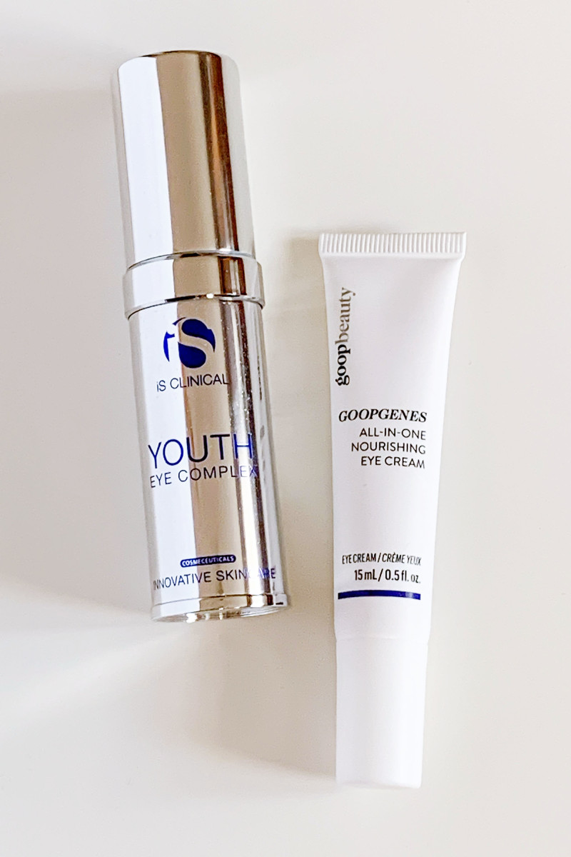 iS Clinical Youth Eye Complex and Goop Beauty GOOPGENES All-in-One Nourishing Eye Cream