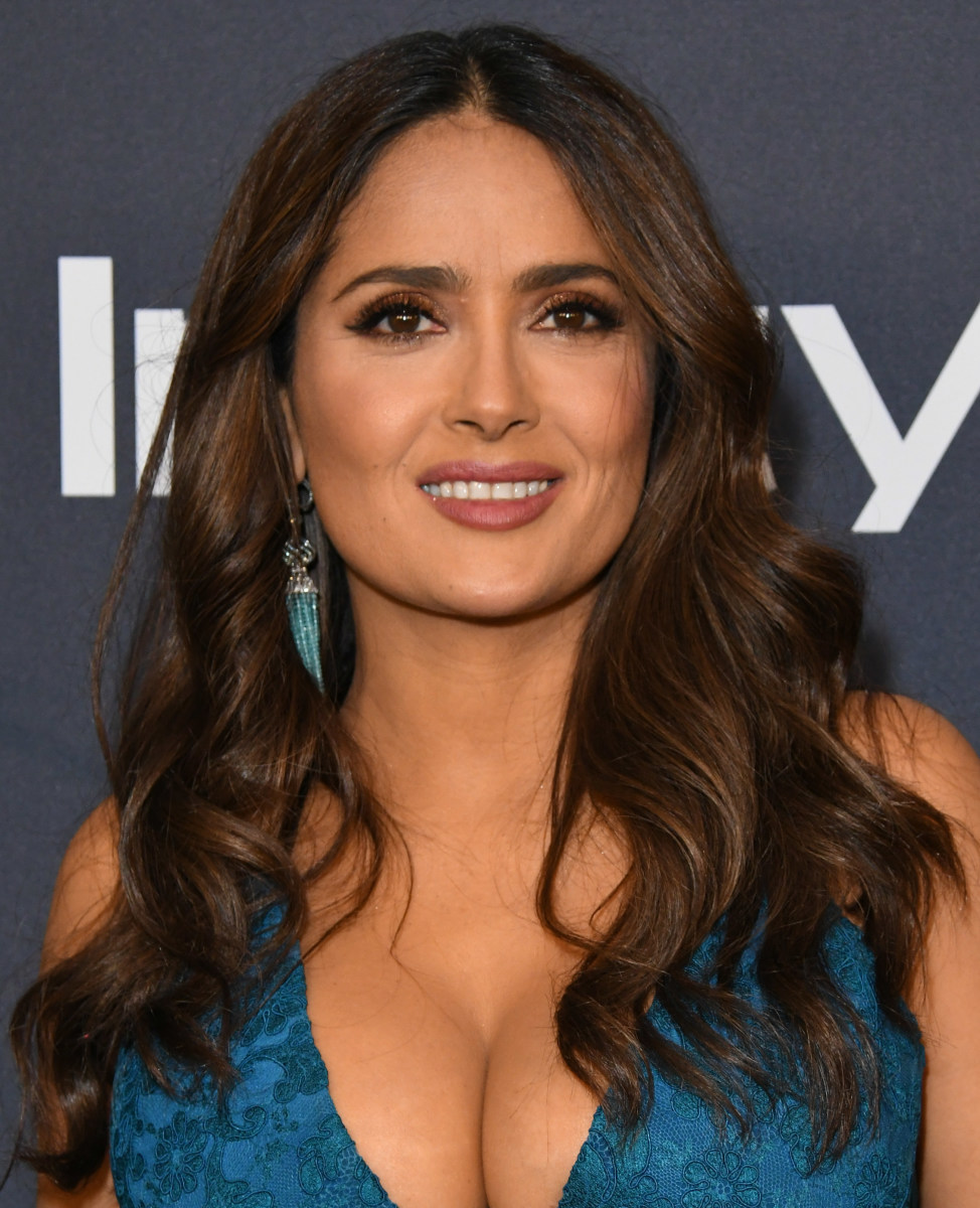Salma Hayek InStyle Warner Bros Golden Globes After Party 2020