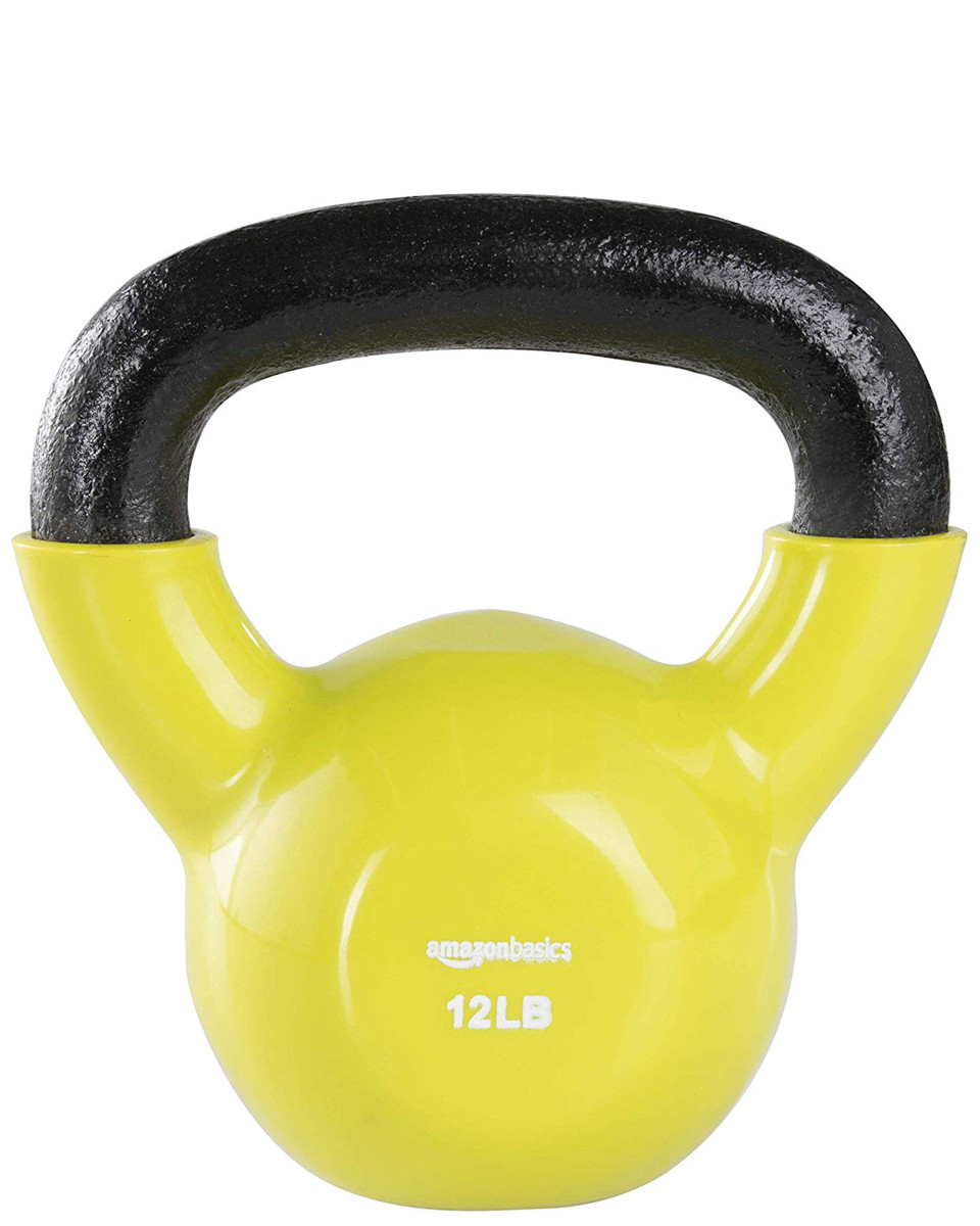 AmazonBasics Vinyl Coated Cast Iron Kettlebell Weight