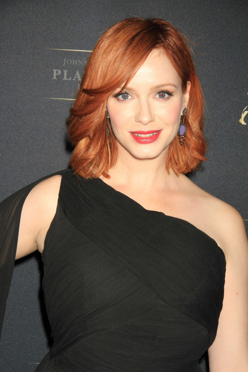 Christina Hendricks Johnnie Walker Platinum launch 2013