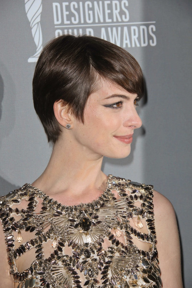 Anne Hathaway Costume Designers Guild Awards 2013