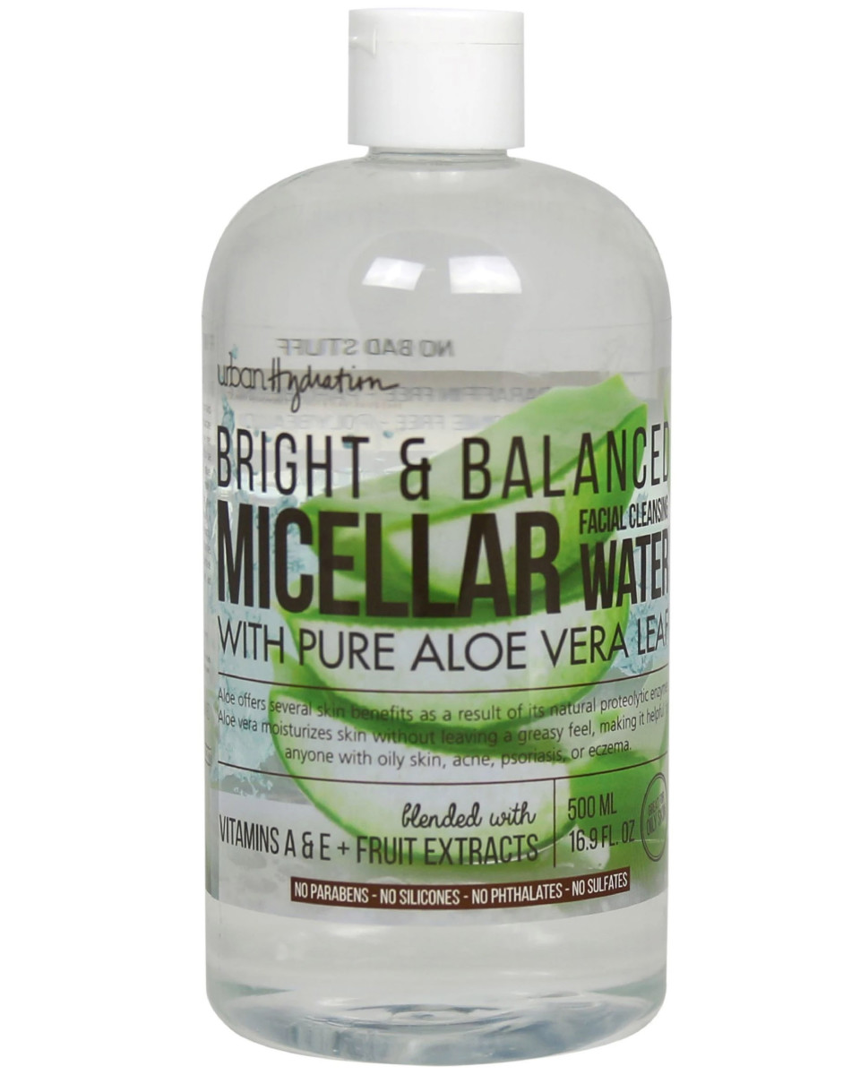 Urban Hydration Bright Balanced Micellar Facial Cleansing Water with Pure Aloe Vera Leaf