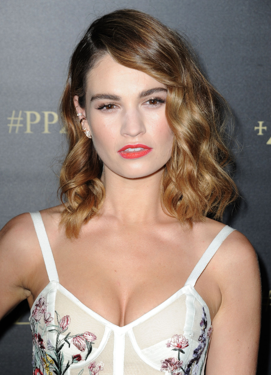 Lily James Pride and Prejudice and Zombies Los Angeles premiere 2016