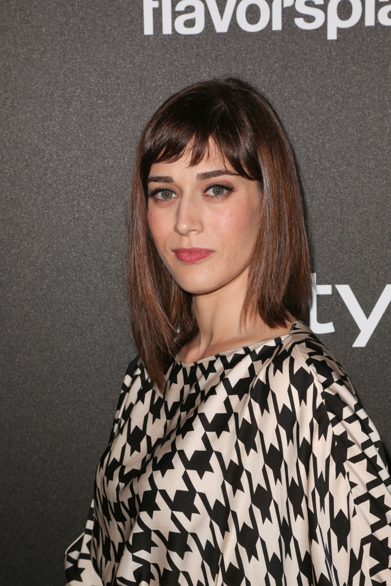 Lizzy Caplan Hollywood Foreign Press Association InStyle Miss Golden Globe party 2013