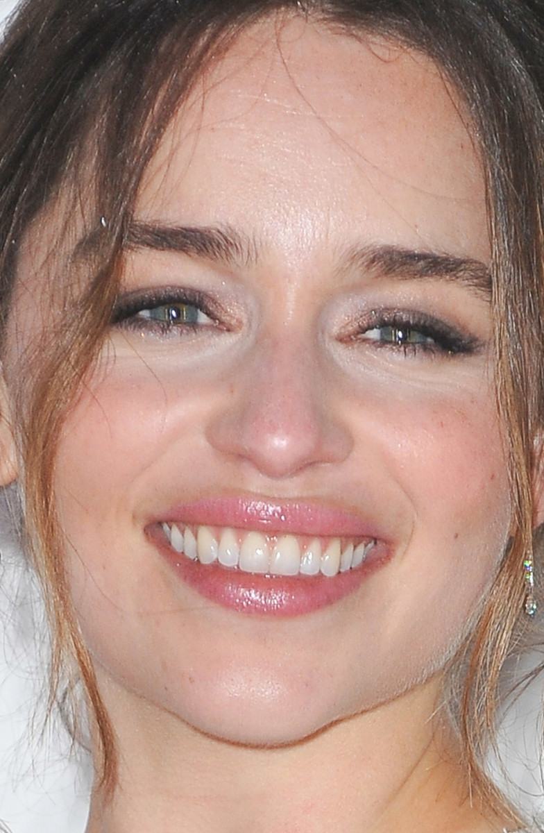 Emilia Clarke Lancome BAFTA Nominees Party 2016 close-up