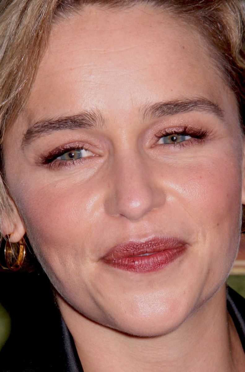 Emilia Clarke My Dinner with Herve Los Angeles premiere 2018 close-up