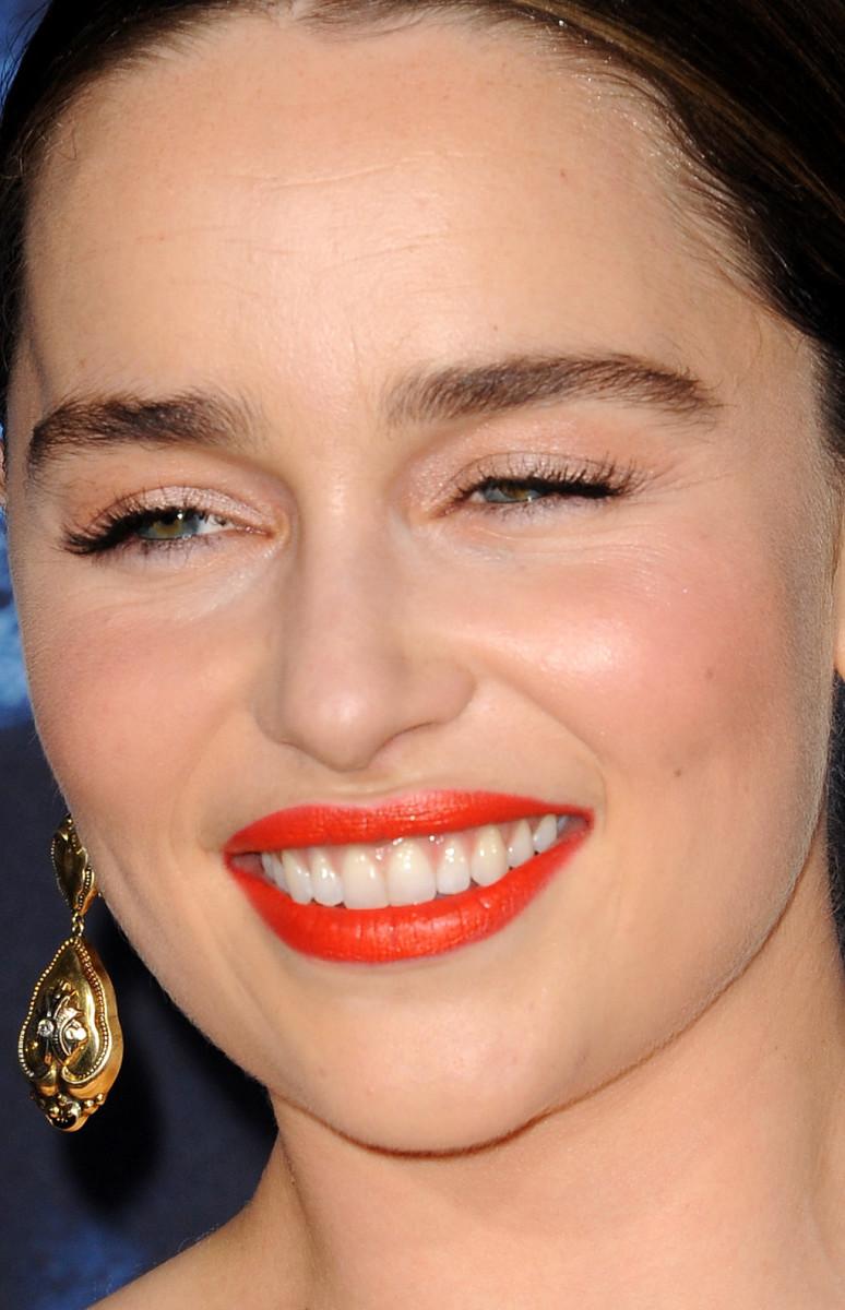 Emilia Clarke Game of Thrones Season 6 Los Angeles premiere 2016 close-up
